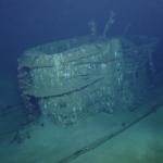 Conning tower of U-166.  Photo credit @ Ocean Exploration Trust