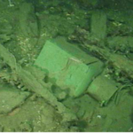 Starboard lantern from the Green Lantern Wreck site.  Image courtesy of Enterprise Products Partners L.P.