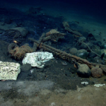 Bow section of Moneterry B shipwreck.  Image courtesy of NOAA Okeanos Explorer Program